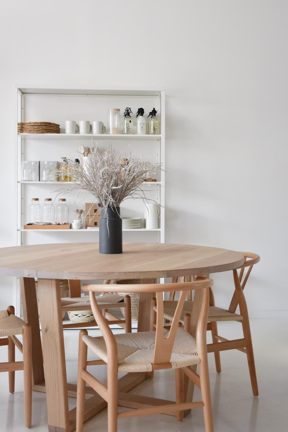 Quarter Round Dining Table Solid Timber Raw Sunshine Coast