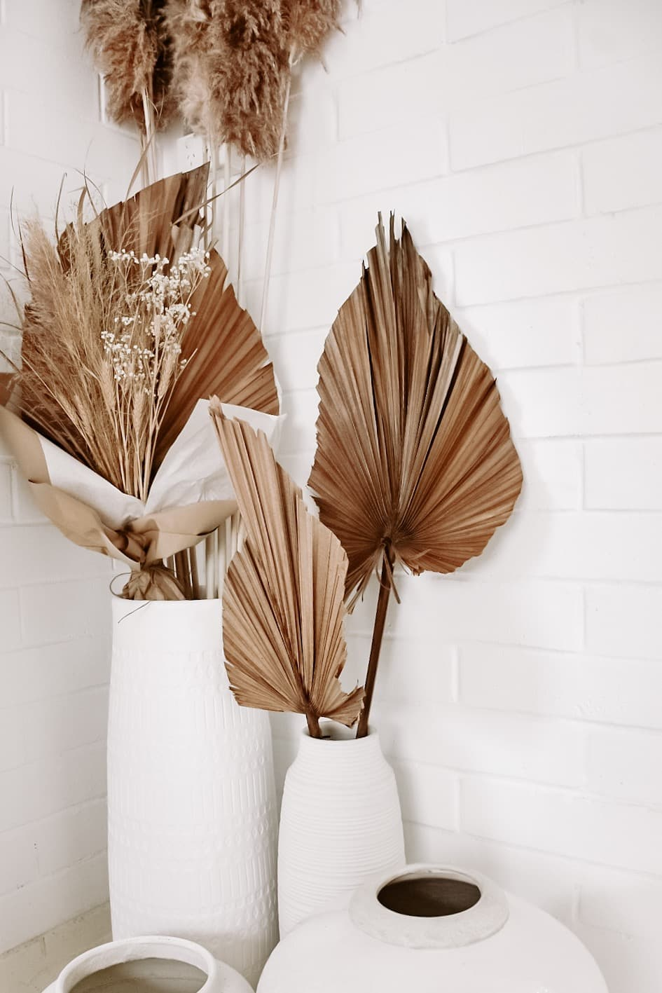 Dried Natural Palm Spear Leaves home decor beige Dried Plants