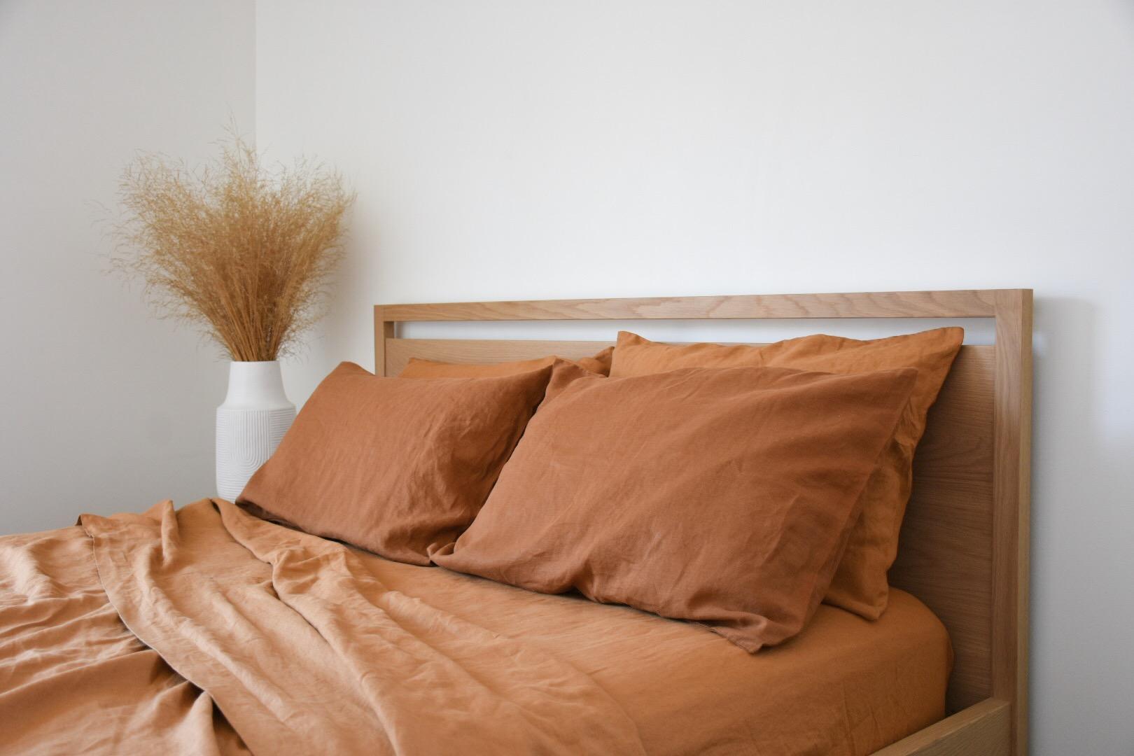 french flax bed linen interior decor sunshine coast