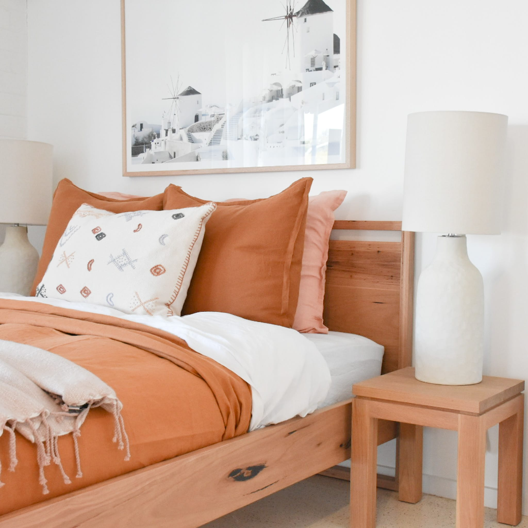 Dani Timber Bed Handcrafted In Australia By Raw Sunshine Coast