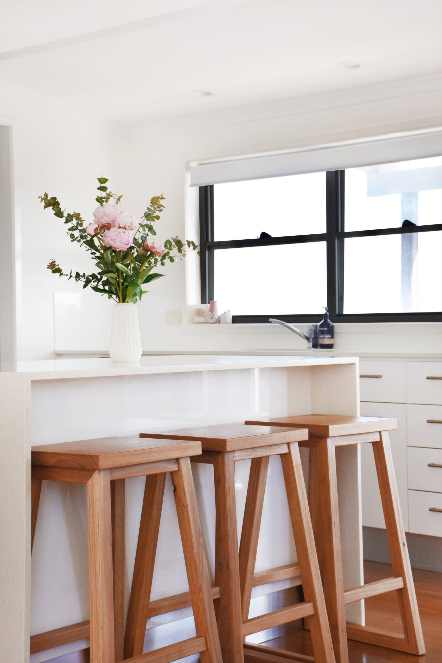 Dani Timber Kitchen High Bar Stool Handcrafted By Raw Sunshine Coast